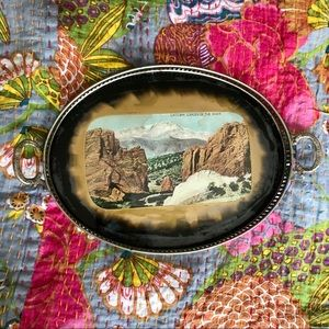 🆕 VTG Western Scenic Colorado Springs Vanity Tray